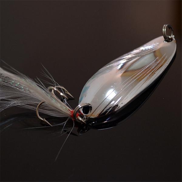 10pcs Fishing Paillette Lure Bait Sequins Fishing Lure Treble Feather Hook
