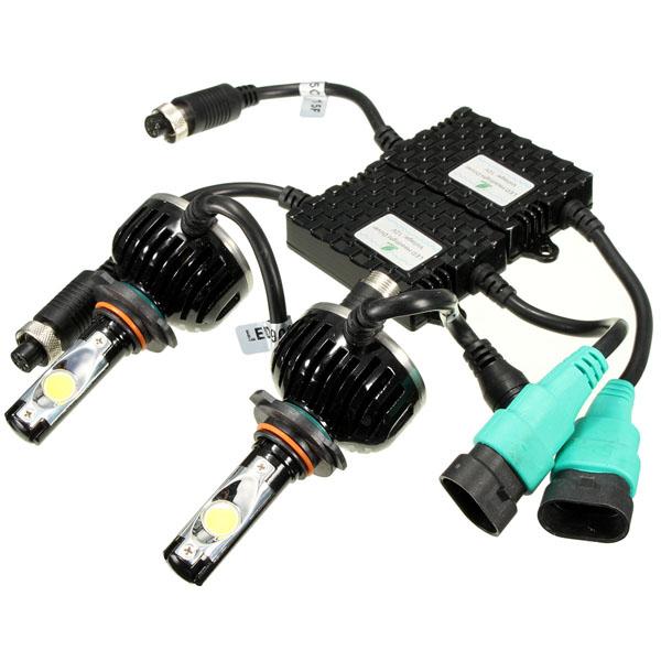 60W 5000K 4800LM White LED Headlight Kit 9004 9005 9006 H4 ...