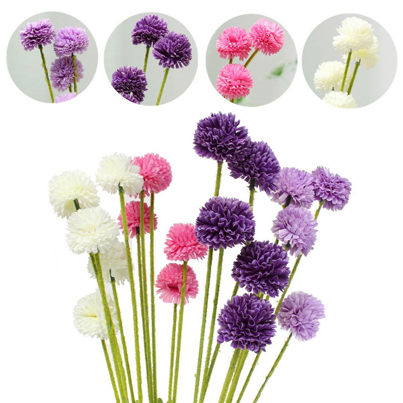 5 heads lavender ball artificial silk flowers bouquet simulation 5 heads lavender ball artificial silk flowers bouquet simulation home wedding party decor gift mightylinksfo