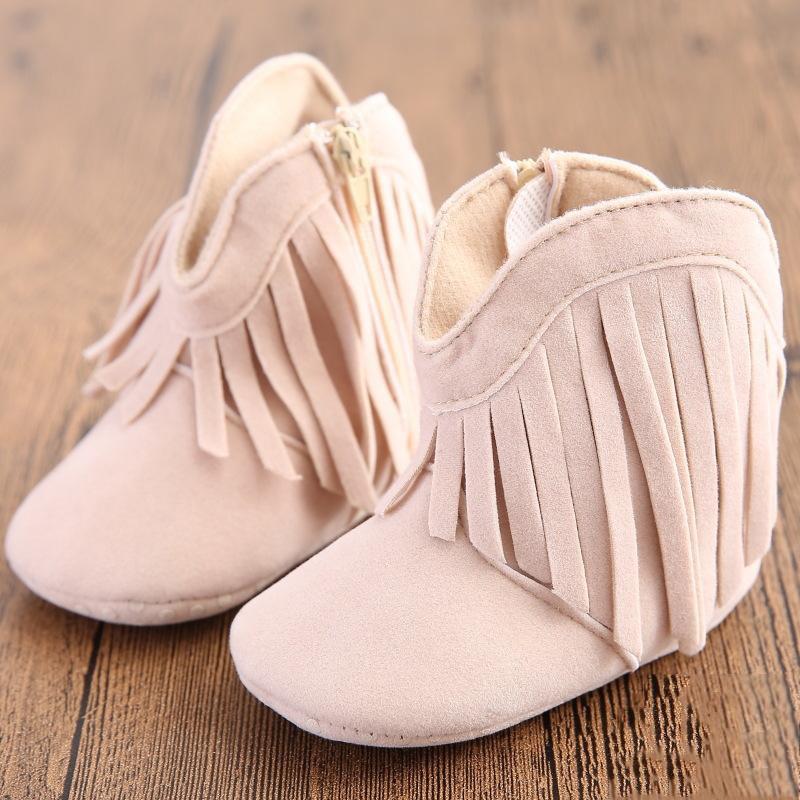 Tassel Design Crib Shoes Baby Boy Girl