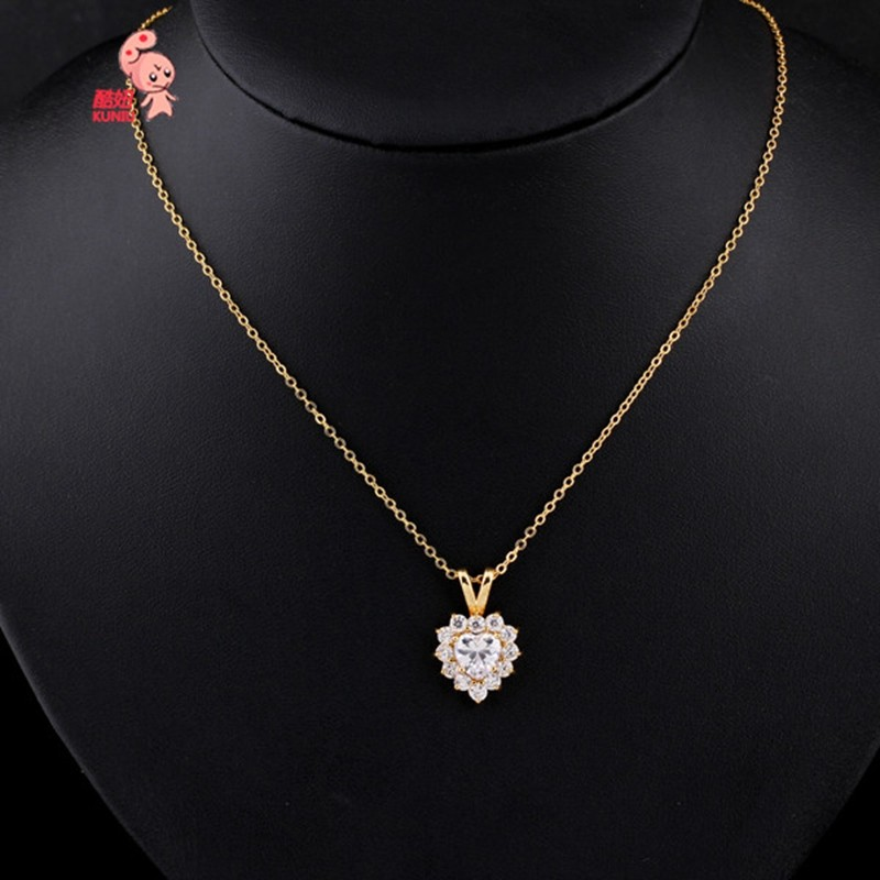 genuine gold quot blue zircon white necklace pendant dp com amazon in