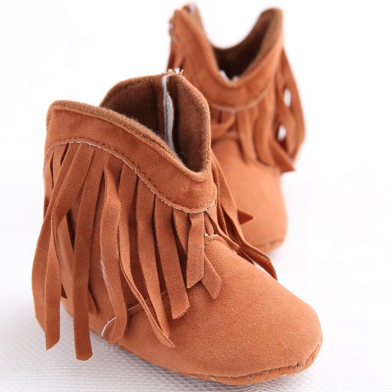 Tassel Design Crib Shoes Baby Boy Girl Winter Shoes Infant ...