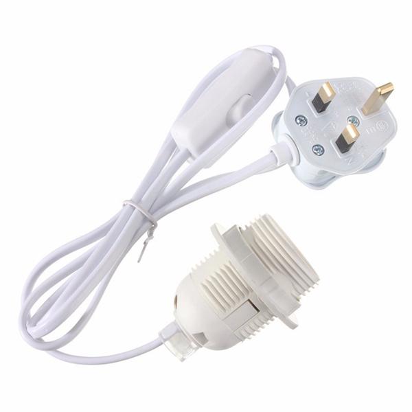 Pendant Light Kit With Switch : E edison es ceiling light holder pendant lamp bulb