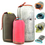 Tavel Camping Hiking Sports Ultralight Pouch Mesh Stuff Sack Drawstring Nylon Mesh Bag