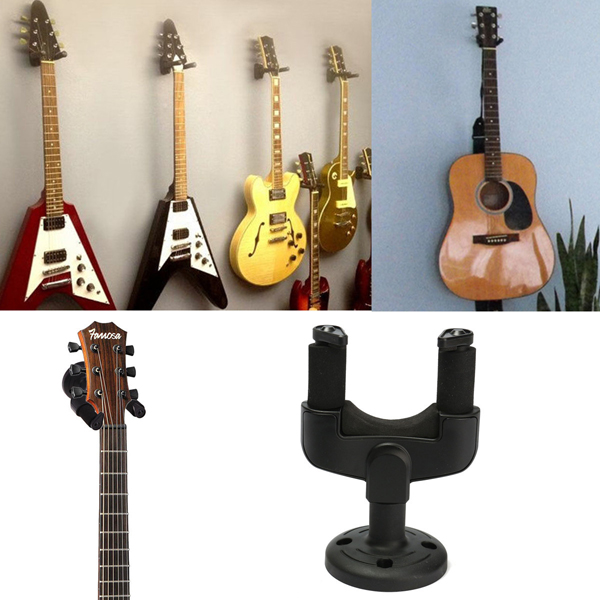 wall mount hooks stand holder guitar hangers musical instrument parts. Black Bedroom Furniture Sets. Home Design Ideas
