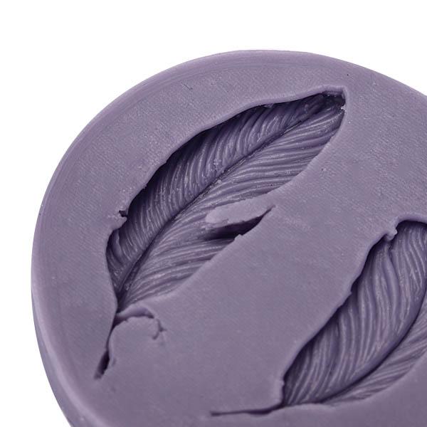 Silicone Fondant Mold 3D Feathers Fondant Cake Mould Silicone Fondant Mould Decoration Chocolate