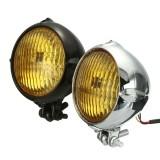 Motorcycle 4inch Headlight Amber Light Lamp For Harley Bobber Chopper