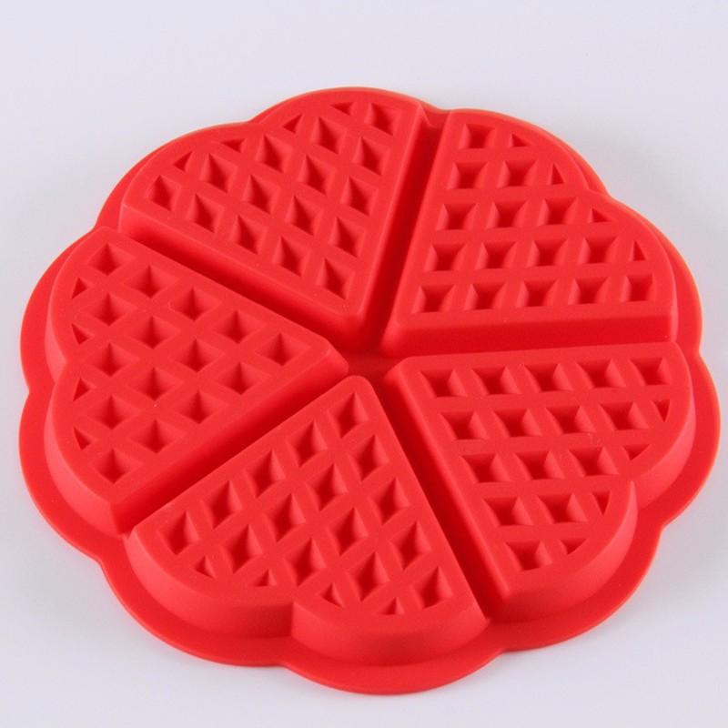 Heart Waffle Cake