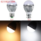 E27 B22 10W  Dimmable 14 SMD5730 LED Bayonet Edison Bulb Lamp Globe Light Warm White AC 110-240V