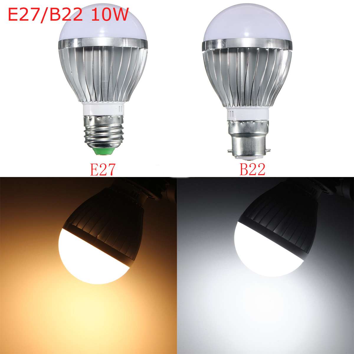 e27 b22 10w dimmable 14 smd5730 led bayonet edison bulb lamp globe light warm white ac 110 240v. Black Bedroom Furniture Sets. Home Design Ideas