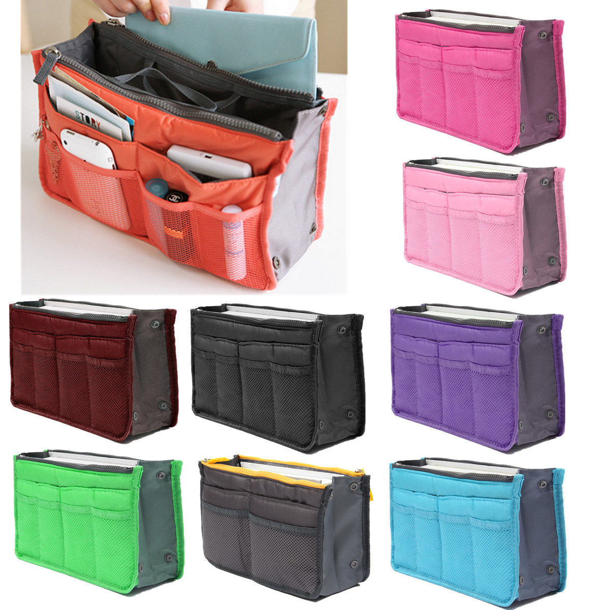 Large Travel Toiletry Tidy Wash Cosmetic Bag Compact Makeup Storage Case  Bathroom Mesh Organizer