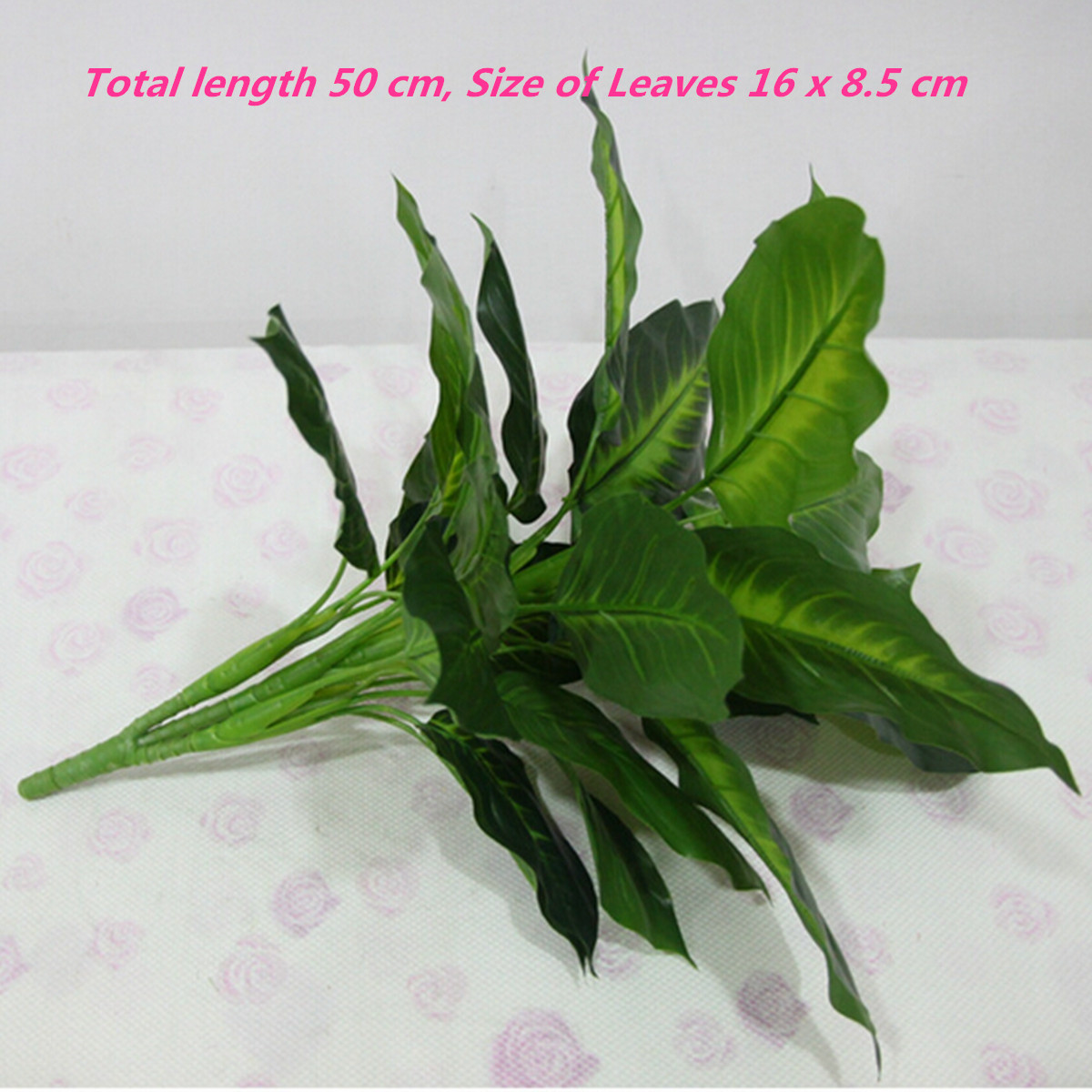 50cm Lifelike Leaves Evergreen Artificial Plant Simulation Flowers Bush Potted Flower Home Decor