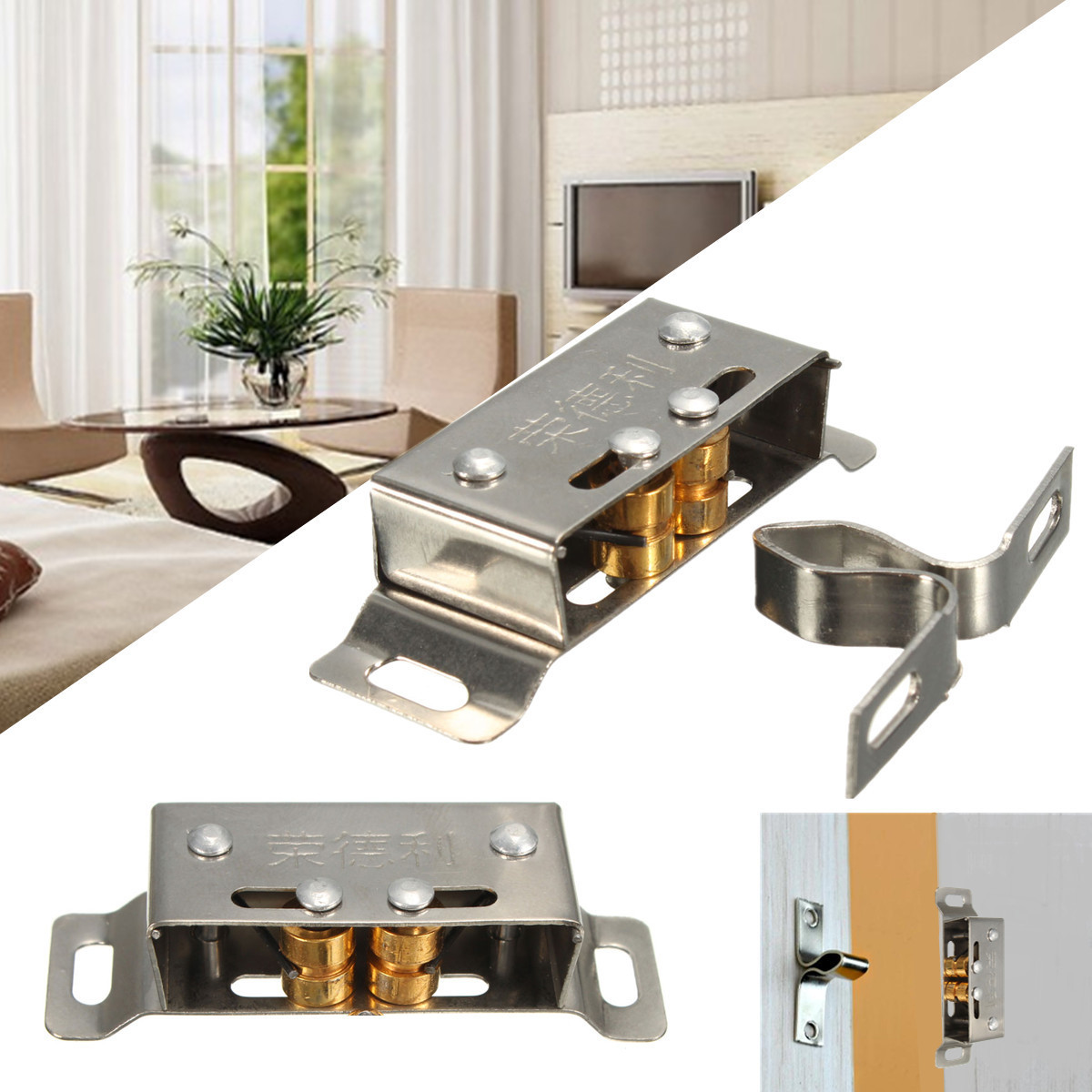 Kitchen Cabinet Latches: Stainless Steel Catch Stopper For Cupboard Cabinet Kitchen
