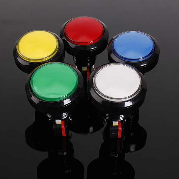 12v 25a Round Lit Illuminated Arcade Video Game Push Button Switch Led Light Lamp