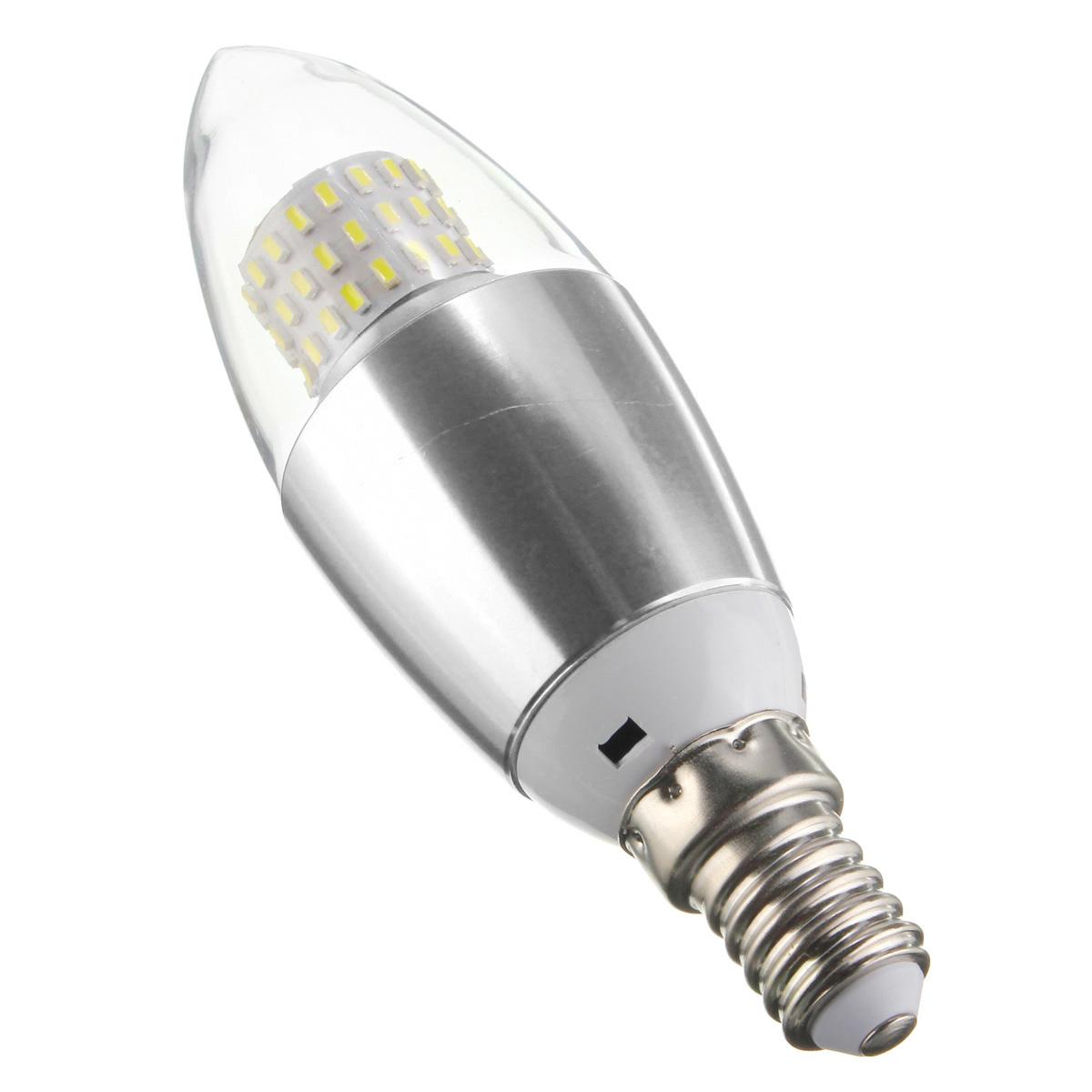 dimmable e27 e12 e14 7w 60 smd 3014 led warm white white sliver candle lamp bulb ac 220v. Black Bedroom Furniture Sets. Home Design Ideas