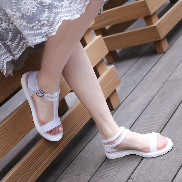 Women Summer Chic Peep Toe Sandals Beach Breathable Strappy Sandals