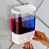 Bathroom Wall Mounted Manual Soap Dispenser Liquid Foam Lotion Shampoo Shower Gel Bottle