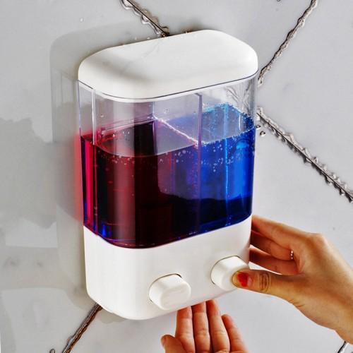 Bathroom Wall Mounted Manual Soap Dispenser Liquid Foam Lotion Shampoo Shower Gel Bottle