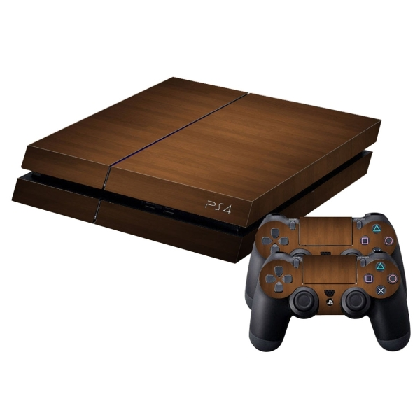 Wood pattern protective skin sticker cover skin sticker for Ps4 hunting and fishing games