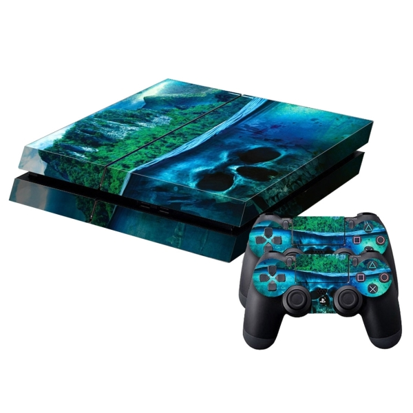 Skull pattern protective skin sticker cover skin sticker for Ps4 hunting and fishing games