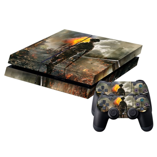 Wars pattern protective skin sticker cover skin sticker for Ps4 hunting and fishing games