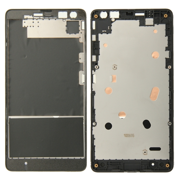 front housing lcd frame bezel plate replacement for microsoft lumia