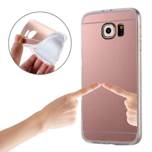 plating mirror tpu protective case for samsung galaxy s7 edge g935 rose gold alex nld. Black Bedroom Furniture Sets. Home Design Ideas