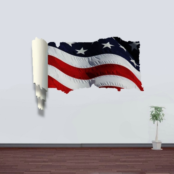 3d stars and stripes picture scroll removable wall art. Black Bedroom Furniture Sets. Home Design Ideas