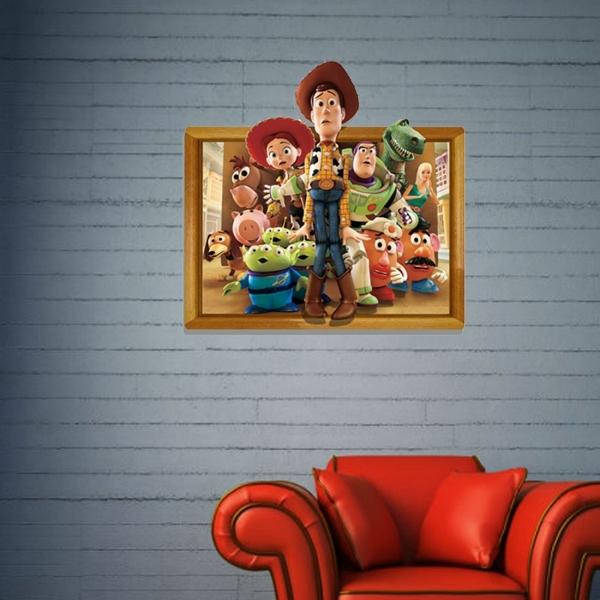 3D Toy Story Removable Wall Art Stickers, 59 x 58 x 0.3 cm | Alexnld.com