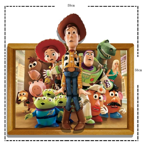 Toy Story 3d Wall Light : 3D Toy Story Removable Wall Art Stickers, 59x58x0.3 cm Alex NLD