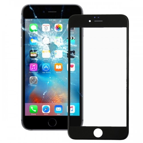 Front Screen Outer Glass Lens with Front LCD Screen Bezel Frame for iPhone 6s (Black)