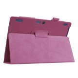 Litchi Texture Horizontal Flip Solid Color Leather Case with Holder for Lenovo TAB 2 A10-30 X30F & TAB 2 A10-70F, 10.1 inch (Purple)