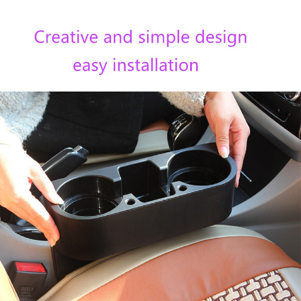 1*Universal Car Van Storage Drinking Bottle Double Can Cup Mount Holder Stand UK