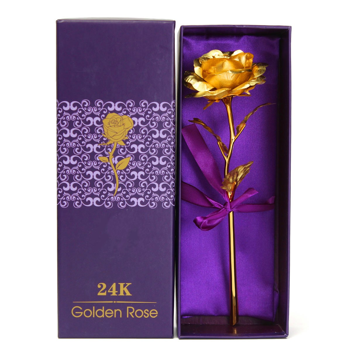 24k Gold Plated Rose Unique Gift Anniversary Mothers Day Girlfriends