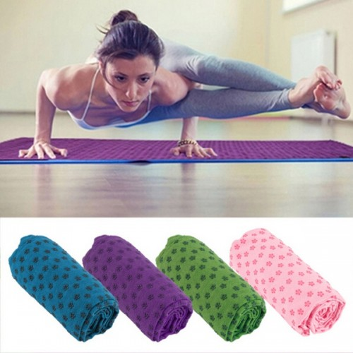 Soft Non Anti Skid Slip Fitness Yoga Mat Cover Towel Blanket