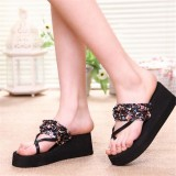 New Summer Women Wedge Platform Sandal Flip-Flops Shoes Beach Slippers Shoes