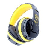 MX666 Bluetooth 4.0 Stereo Headset Headphones with Mic for iPhone 6 / 5 / 4, Samsung Galaxy S6 / Note 5, Support FM & TF Card (Yellow)