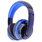 MX666 Bluetooth 4.0 Stereo Headset Headphones with Mic for iPhone 6 / 5 / 4, Samsung Galaxy S6 / Note 5, Support FM & TF Card (Blue)
