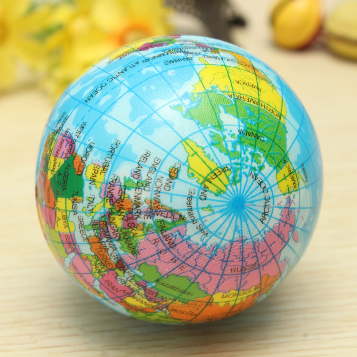 Earth globe planet world map foam stress relief bouncy press ball 53bc09ed 01ac f24b 43ce a6ee480add97g gumiabroncs Choice Image