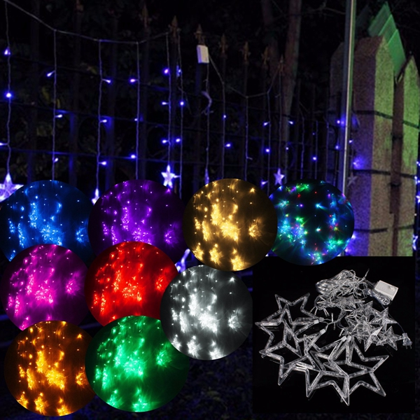 2m 138 led christmas wedding xmas party decor string fairy for 6 star window christmas decoration lights