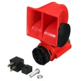 DC 12V Red Twin Tone Air Blast Electric Horn Loudspeaker Steam With Relay For Motorbike Car Boat