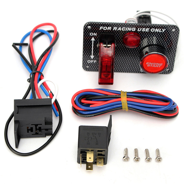 Push To Start Button Ignition: 12v Racing Car Engine Start Push Button Toggle Ignition