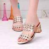 Summer Women Beach Sandals Chic Rhinestone Sandals Platform Sandals