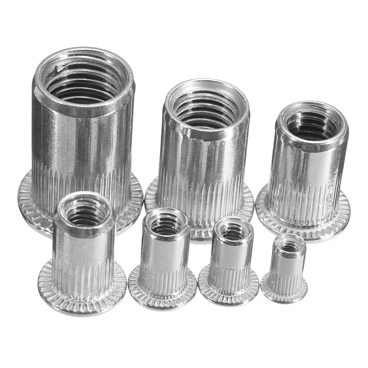 1pcs Slilver Threaded Steel Rivnuts Blindnuts Nutserts