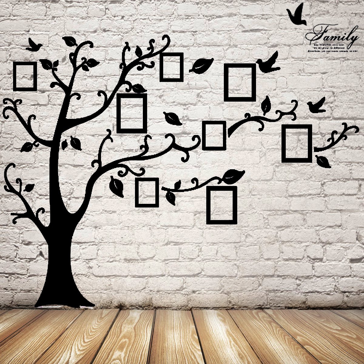 2 5m removable memory tree picture frames wallpaper photo for Picture wall decor