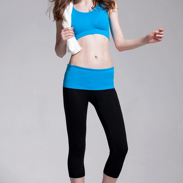 Yoga Fitness Running Sport Aerobics Pant Cropped Trousers