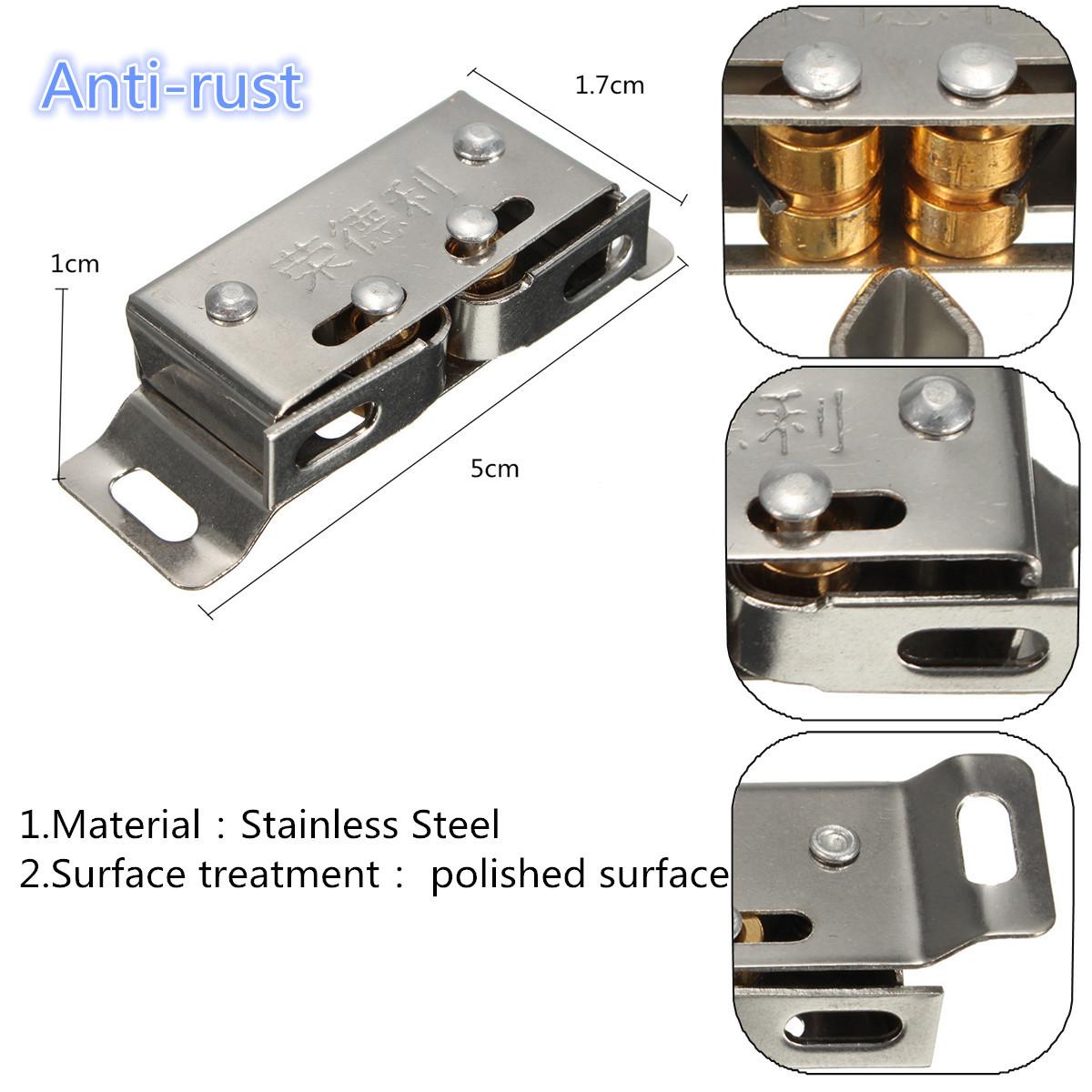 Stainless Steel Catch Stopper For Cupboard Cabinet Kitchen Door Latch Hardware Alexnld Com