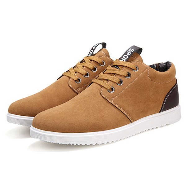 Men Fashion Sports Casual Athletic Sneakers Suede Comfortable Flats Shoes