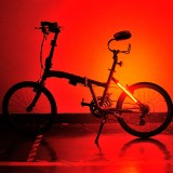 Bike Bicycle Wheel Valve Spoke LED Light Lamp Strap Bar 5 Lighting Colors 8 Modes For Cycling