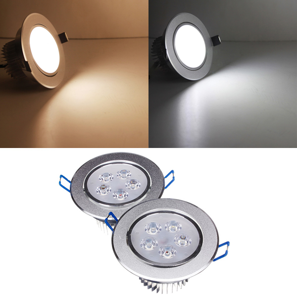 Brightest Recessed Lighting Bulbs : W dimmable bright led recessed ceiling down light v
